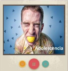 Banner con un muchacho con un limón en la boca con una expresión de desagrado para representar la Adolescencia enlazado a Servicios del Centro Pisicológico de María Jiménez