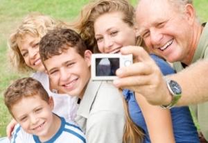 Una familia con adolescentes