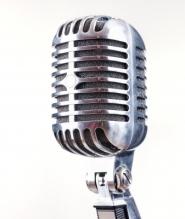 Micrófono de café talento