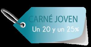 Descuento de un 20% y un 25% por Carné Joven