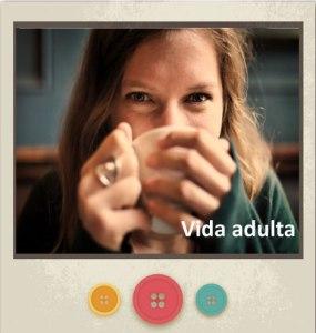 Banner con una chica tomando el café representando la Vida Adulta enlazada a Servicios del Centro Psicológico María Jiménez