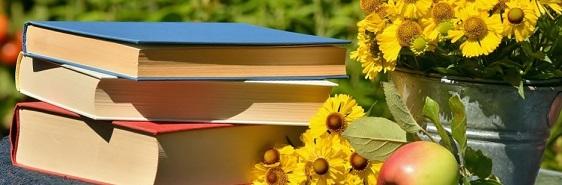 verano libros girasoles manzanas