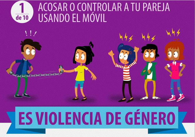 acosar controlar violencia genero